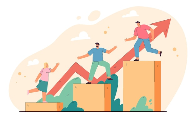Leadership and teamwork concept Free Vector