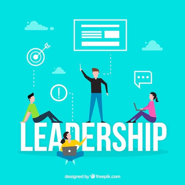 Leadership word concept Free Vector