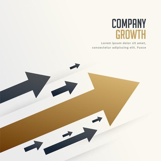 회사 브랜드 성장 개념 배경에 대 한 주요 화살표 무료 벡터