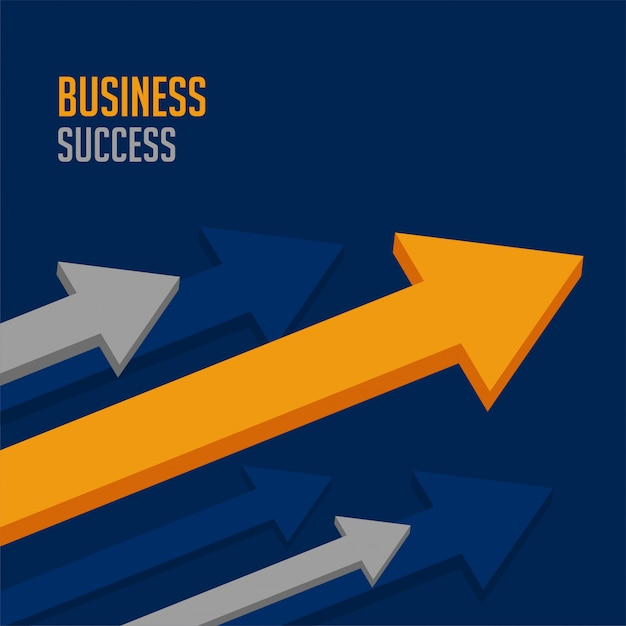 Leading business arrow for company success Free Vector