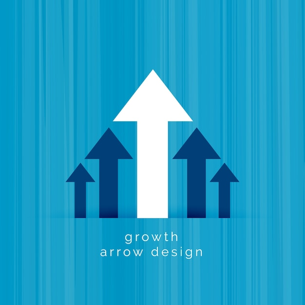Leading white arrow business growth template Free Vector