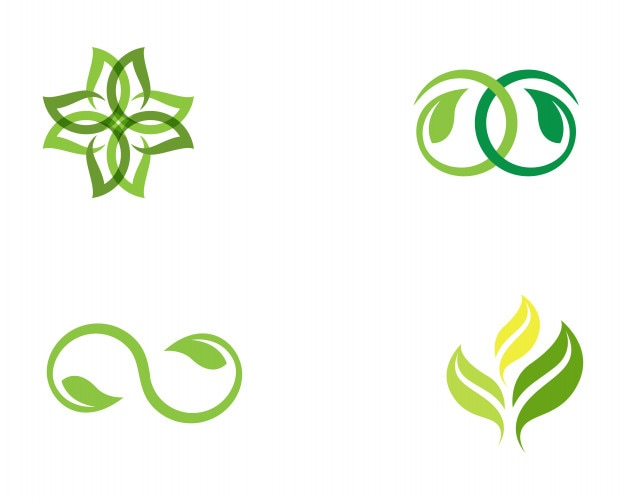 Symbol Template | Leaf Green Nature Logo And Symbol Template Vector Vector Premium
