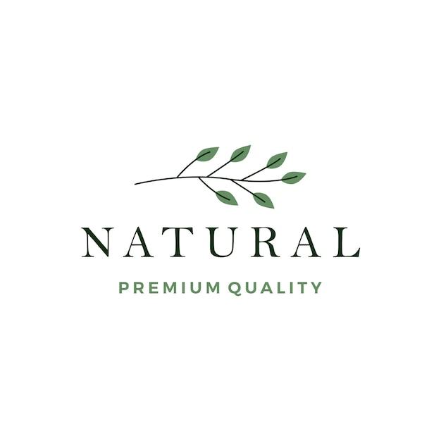 Leaf leaves wreath logo vector icon element Premium Vector
