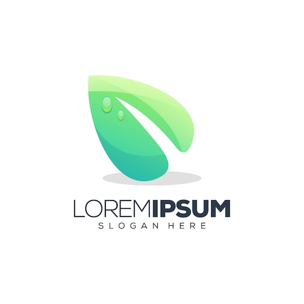 葉のロゴデザインベクトル図 Premiumベクター