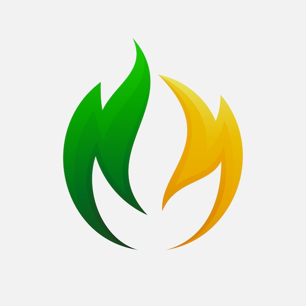 Leaf logo design for your agriculture company Vector