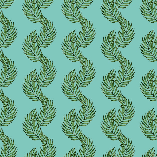 Leaf palms pattern. tropical seamless pattern with palm leaves. exotic leaves. Premium Vector