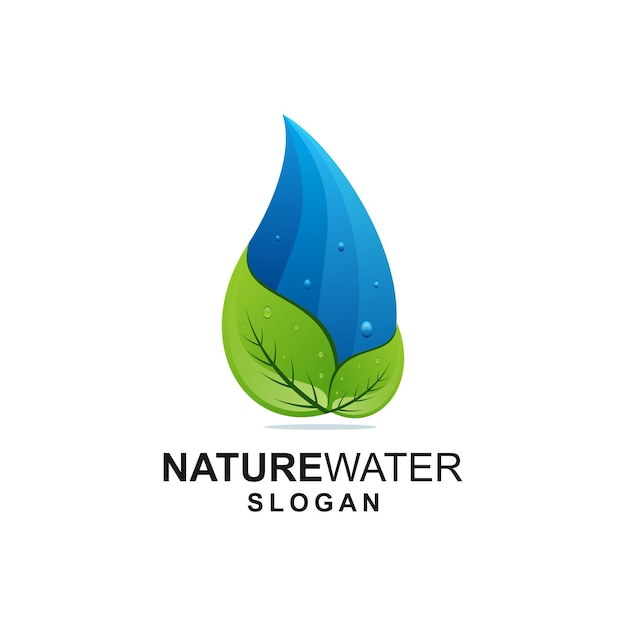 Leaf and water logo ideas Premium Vector