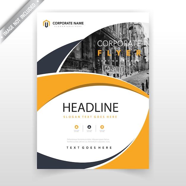 leaflet cover design template vector free download