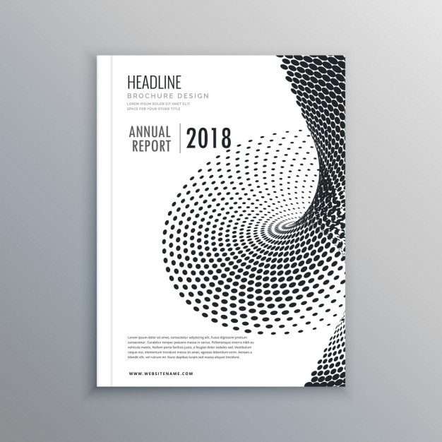 Leaflet with halftone effect Free Vector
