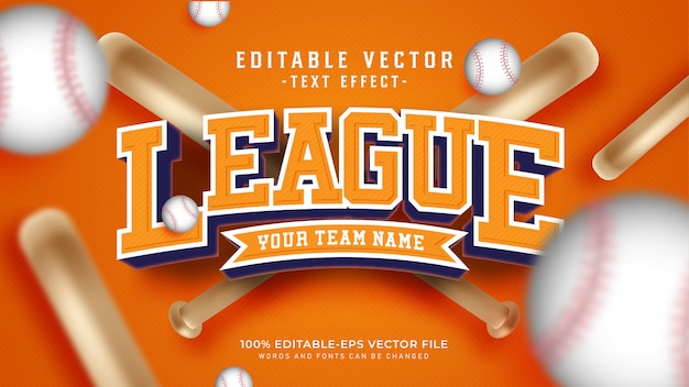 League text effect Free Vector