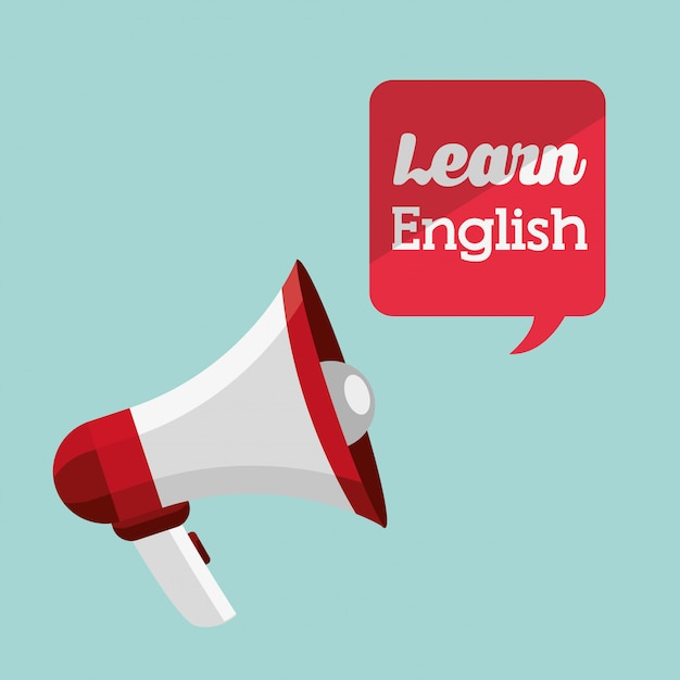 Learn english design Free Vector