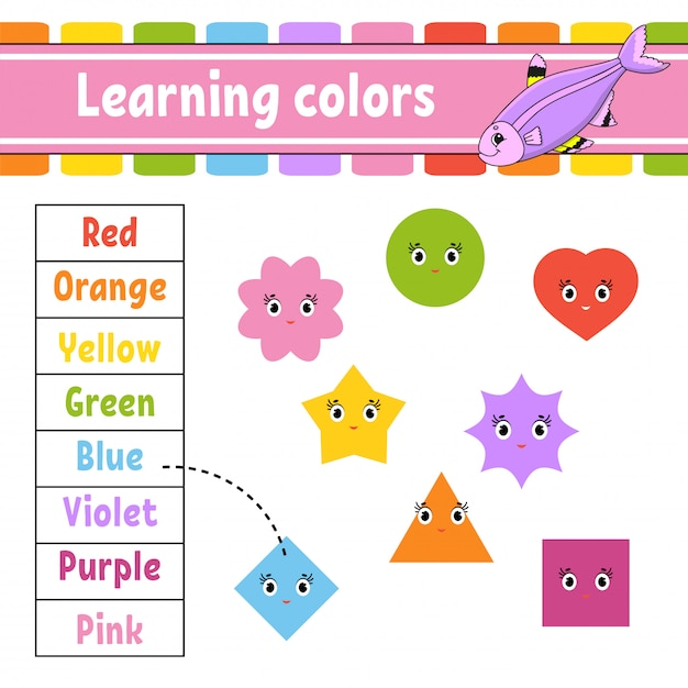 Learning colors. Premium Vector