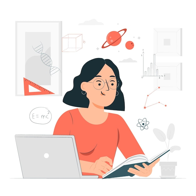 Learning concept illustration Free Vector