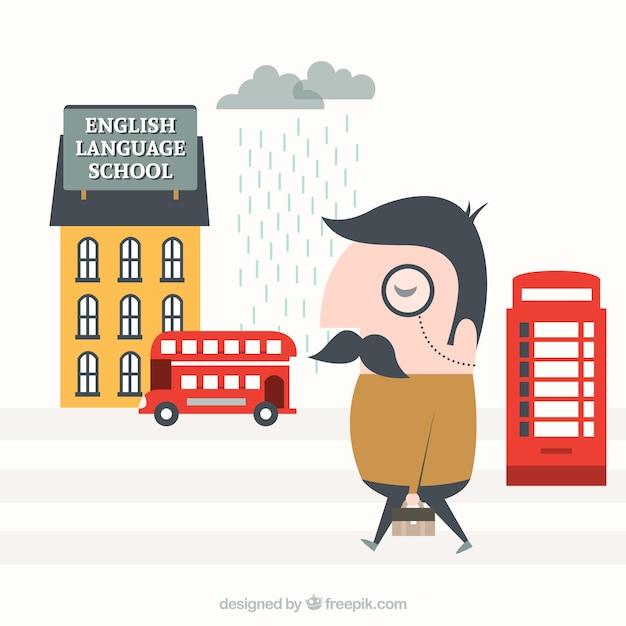 Ilustración Aprendizaje Inglés