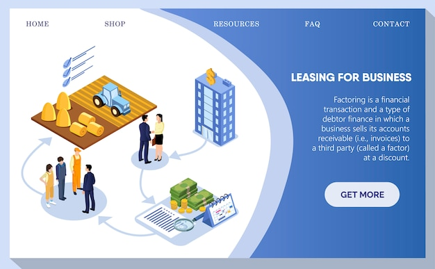Leasing for business, people discussing building. Premium Vector