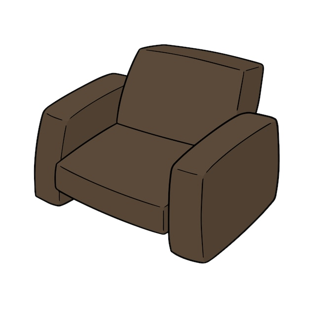 Leather sofa Premium Vector