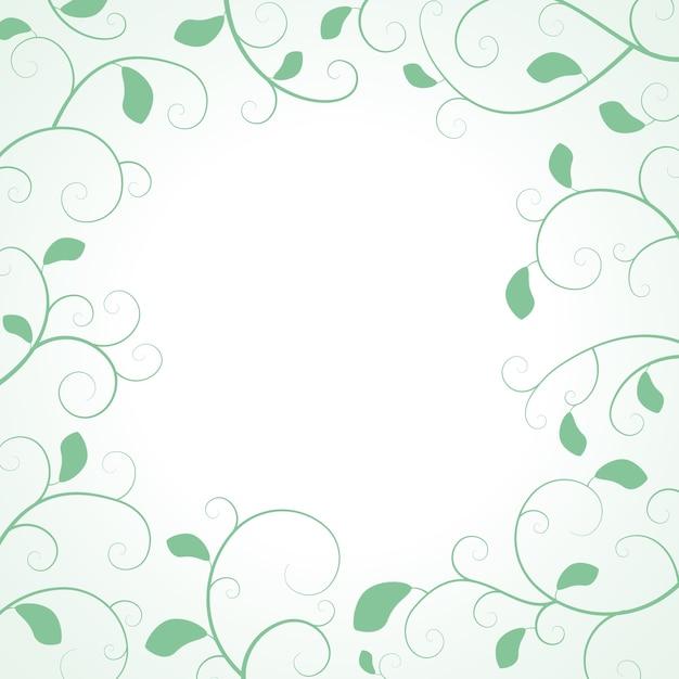 Cornice di foglie con foglie e rami arricciati Vettore gratuito
