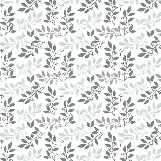leaves pattern background Free Vector