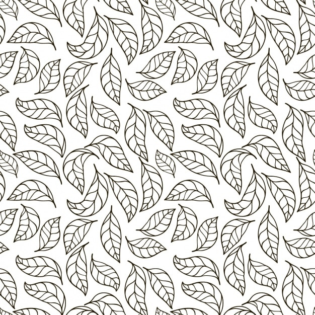 leaves pattern design vector free download