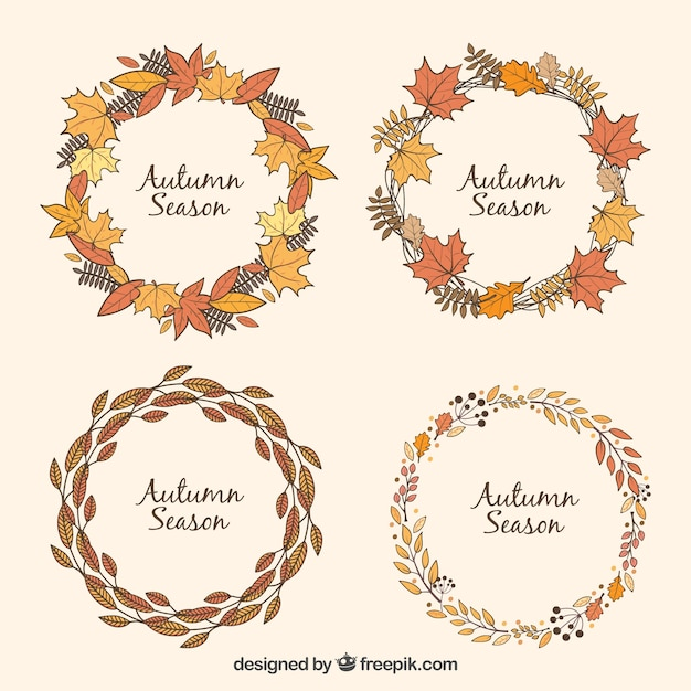 Leaves wreath collection