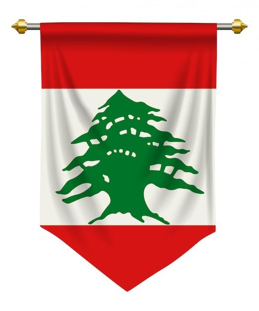 Lebanon pennant Premium Vector