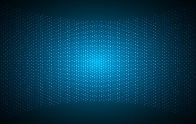 Led blue cinema screen for movie presentation. Premium Vector