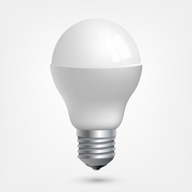 Led light emitting diode energy saving light bulb Premium Vector