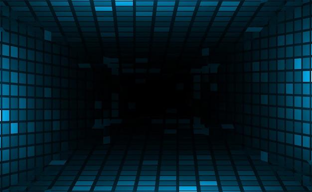 映画用ledシネマスクリーン光の抽象的な技術の背景 Premiumベクター