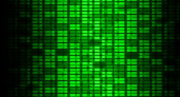 映画用緑色ledシネマスクリーン光の抽象的な技術の背景 Premiumベクター