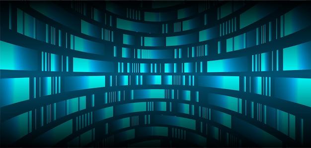 映画のプレゼンテーション用のledブルーシネマスクリーン。 Premiumベクター