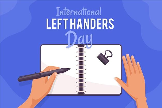 День левшей концепция с почерков Бесплатные векторы