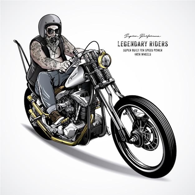 Legendary Motorbike Design Premium Vector
