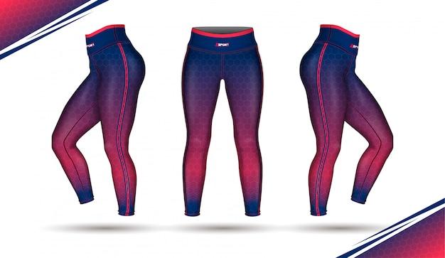 Leggings pants training fashion illustration vector with mold Premium Vector