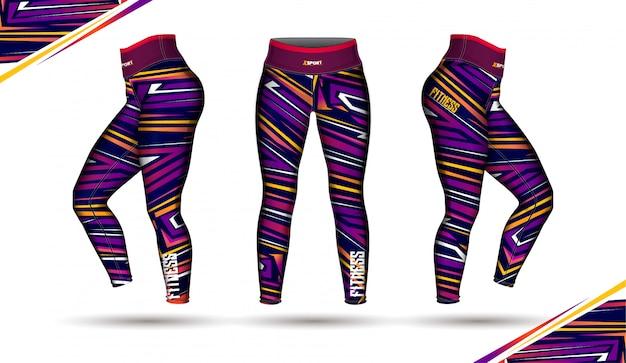 Leggings pants training fashion illustration vector Premium Vector