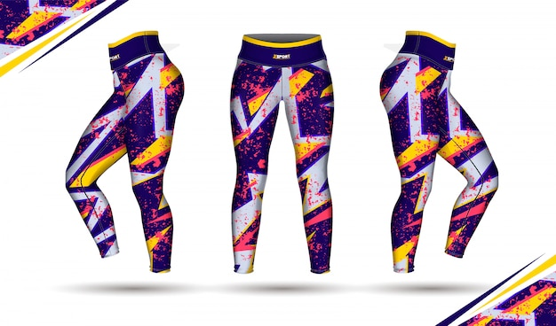 Leggings pants training fashion illustration Premium Vector
