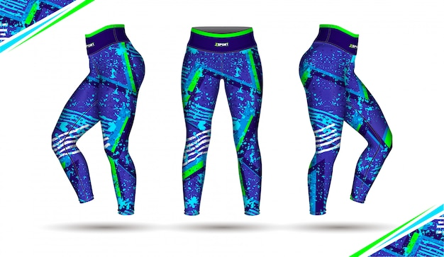 Leggings pants training fashion Premium Vector