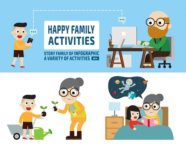 Leisure activities. infographic elements. Premium Vector