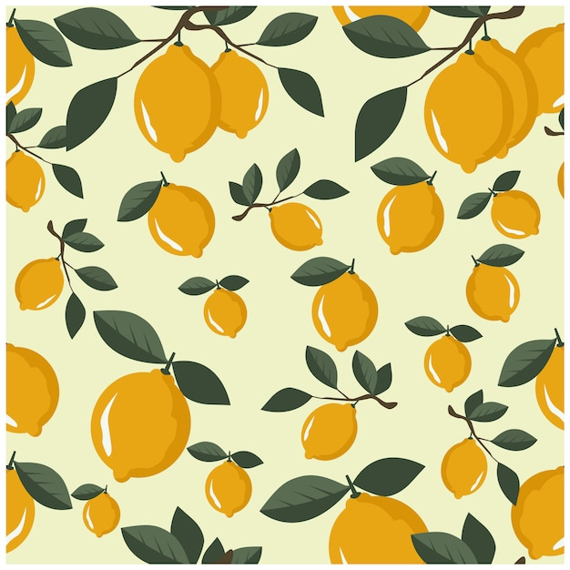 Lemon fresh Premium Vector