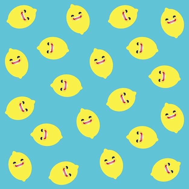 Lemon pattern background Free Vector