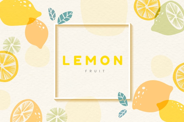 Lemon patterned frame Free Vector