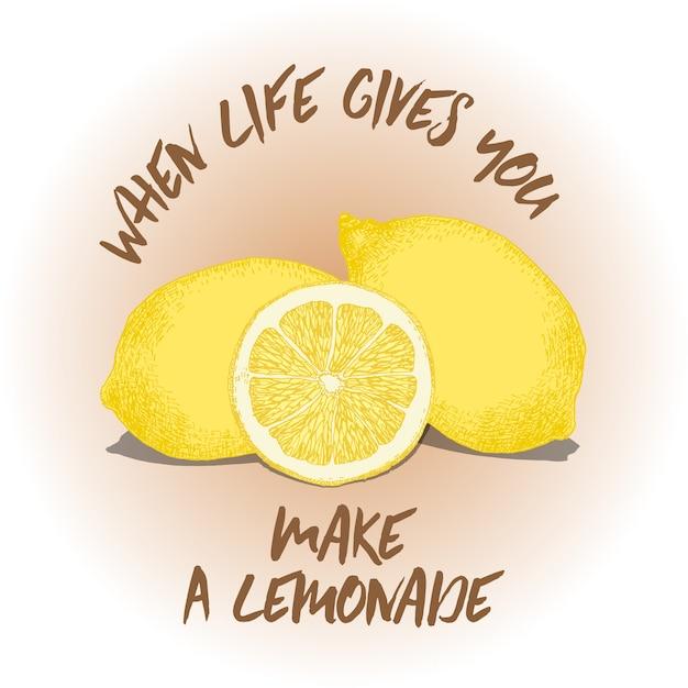 Lemon Quote Background
