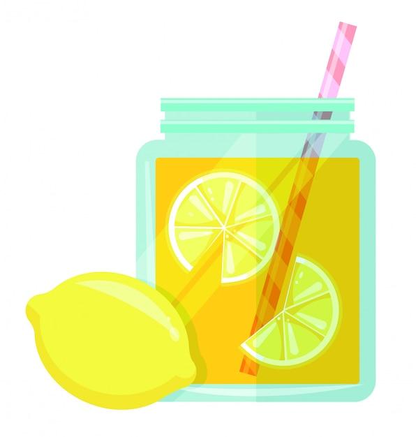 Lemonade jar vector Premium Vector