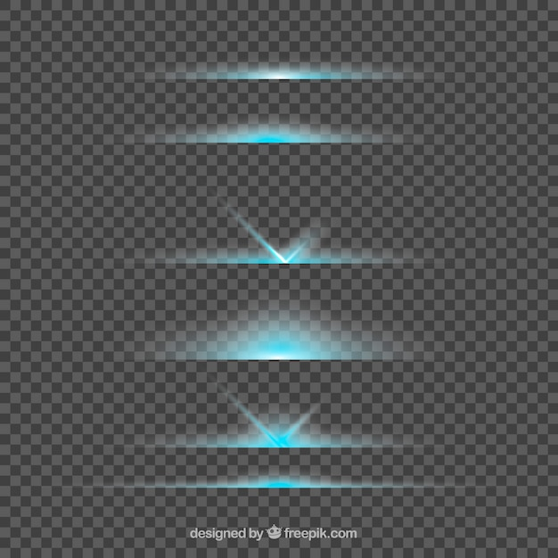 Lens flare divider collection Free Vector