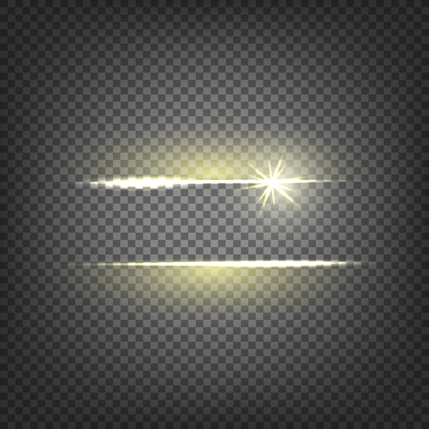 Lens flare light effect Free Vector