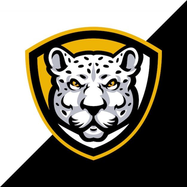 Leopard mascot logo sport. Premium Vector