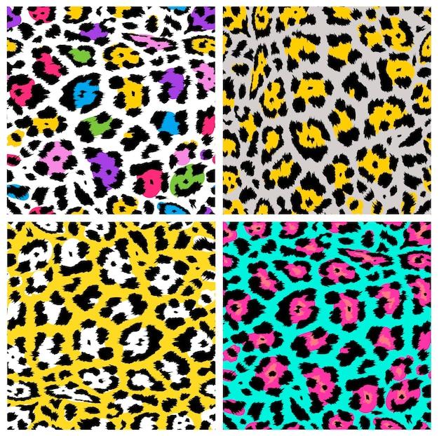 Leopard pattern, textile or wallpaper Premium Vector