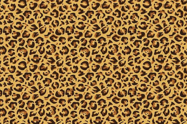 Leopard seamless pattern Premium Vector