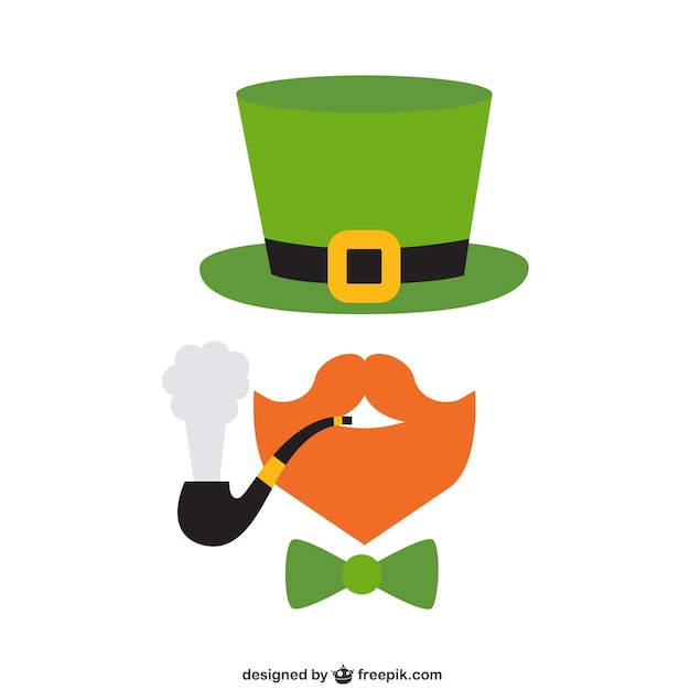 Leprechaun icon Free Vector