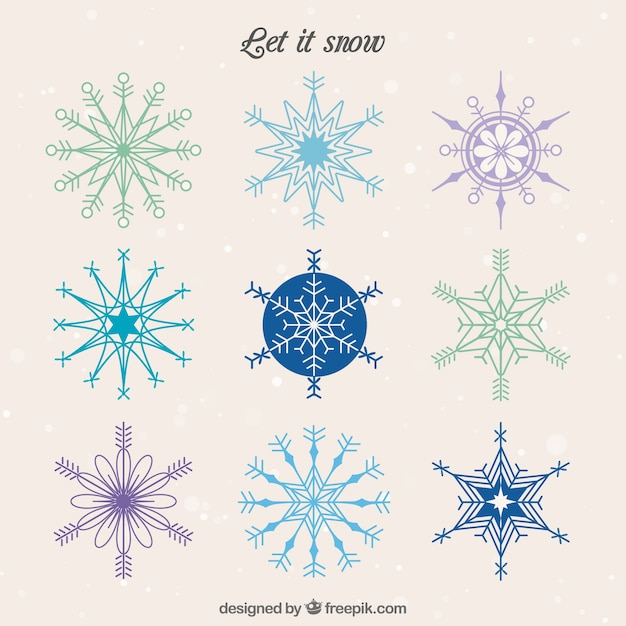 Let it snow Free Vector