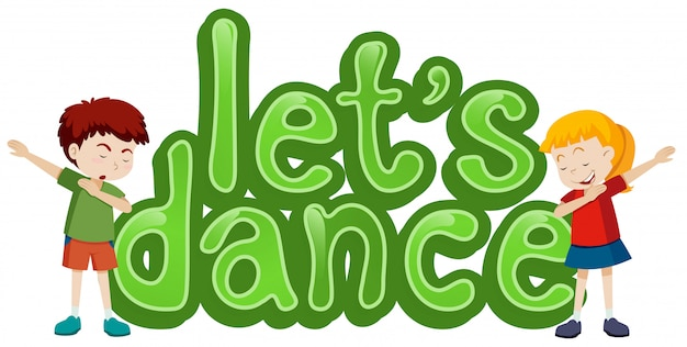 Lets Dance Symbol Template Vector Free Download